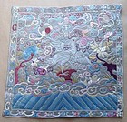 19c Chinese textile 5rd RANK BADGE mandarin square