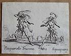 Original 1621 Jacques Callot etching BALLI DI SFESSANIA