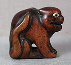 Early 19c netsuke snarling TIGER
