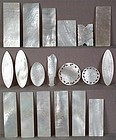 19 mother of pearl Chinese export LOO CHIPS / COUNTERS