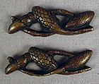 19c PAIR Japanese sword MENUKI MILLET STALKS