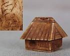 19c OJIME netsuke slide HOUSE by HAKUSHO