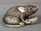 19c netsuke RAT with nut ex Bluth
