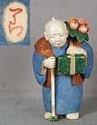 Netsuke GRANDFATHER with GIFTS by ICHIRO