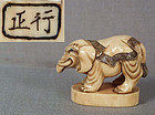 19c netsuke ELEPHANT by MASAYUKI