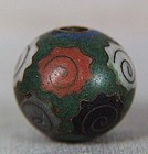 Early 19c Japanese CLOISONNE OJIME netsuke slide