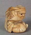 Early 19c netsuke SHOKI the Demon Queller