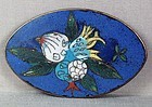 19c Chinese cloisonne BELT BUCKLE Buddha hand, peach, pomegranate