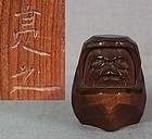 19c Hida school netsuke DARUMA by SUKEYUKI