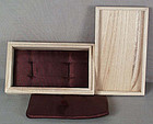 Box for pair of Japanese sword Menuki /fuchi-kashira with cushions