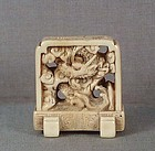 19c netsuke DRAGON SCREEN