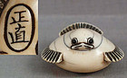 18c netsuke tongue-cut SPARROW by MASANAO