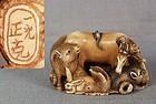 1910s netsuke 12 ZODIAC ANIMALS by MEIGYOKUSAI