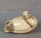 19c netsuke SWAN ex Bushell illustrated