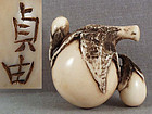 19c netsuke EGGPLANTS by SADAYOSHI