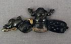 19c Japanese POUCH CLASP netsuke sumo wrestler dolls