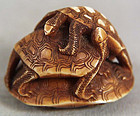 19c netsuke 3 TURTLES