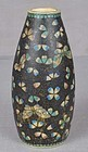 19c ceramic cloisonne TOTAI SAKE BOTTLE butterflies