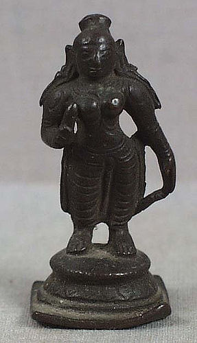 19c Indian bronze nude BHUDEVI