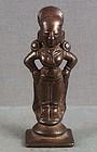 18c Indian bronze RUKMINI consort of VITTHALI