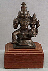 19c Indian bronze VISHNU & LAKSHMI