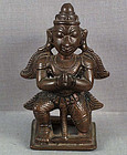 19th C Indian bronze GARUDA vehicle of Vishnu