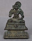 15c Indian bronze VEDANTA DESIKA Vaishnava saint