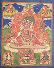 Early 19c Tibetan thangka HAYAGRIVA