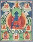 18c Tibetan thangka BUDDHA AKSHOBHYA