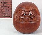 19c okimono DARUMA by netsuke carver SUKEYUKI