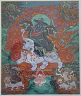 18c Tibetan thangka GYAYIN - KING OF THE MIND