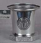 1930s Japanese silver SALT samurai crests