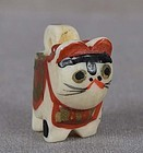 19c OJIME netsuke slide TOY CAT
