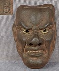 19c netsuke mask BISHAMON by ONKO