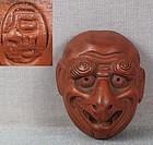 19c netsuke mask KARASU TENGU by SEKISEN