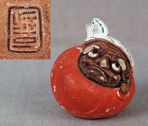 Netsuke DARUMA DOLL marked
