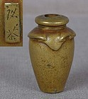 19c OJIME netsuke slide JAR signed