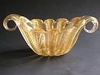 Vintage Cordonato Oro Glass Bowl by Ercole Barovier