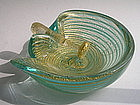 Vintage Murano Glass Barovier bowl and pestle set