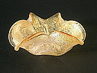 Sculpted Sommerso Bowl attributed to Barovier & Toso