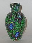 Modern Murrine Vase with Leaves, Vine and  Aventurine