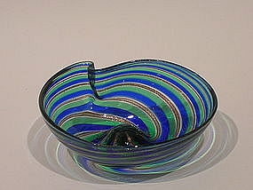 Vintage Murano Shell Bowl attributed to Fratelli Toso