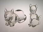 Vintage Murano Glass Dogs pair by Archimede Seguso