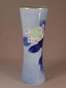 Japanese Porcelain Fukagawa Vase Circa 1970