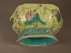 Chinese Porcelain Turquoise Yellow Bowl Circa 1900