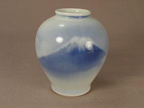Japanese Porcelain Fukagawa Jar N.Y.K. Line Circa 1920