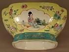 Chinese Porcelain Bowl Beautiful Girls Circa 1910