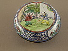 Chinese Enamel Seal Paste Box Marked Circa 1900