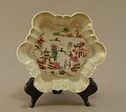 Chinese Export Porcelain Tea Pot Stand 18th Century