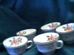 Georgian China Cups - Cornish Rose
